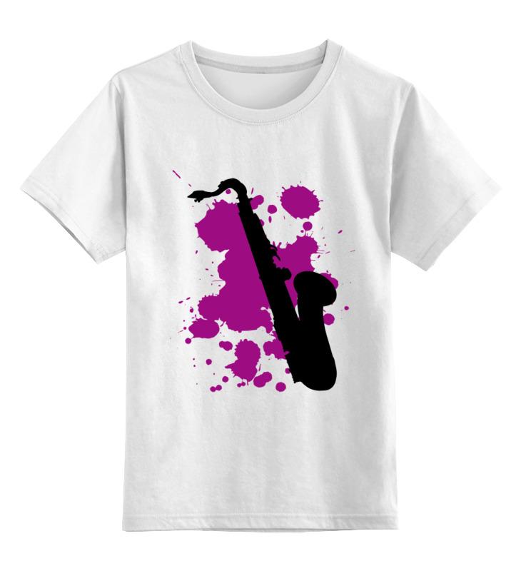 Детская футболка классическая унисекс Printio Saxophone tenor saxophone free shipping selmer instrument saxophone wire drawing bronze copper 54 professional b mouthpiece sax saxophone