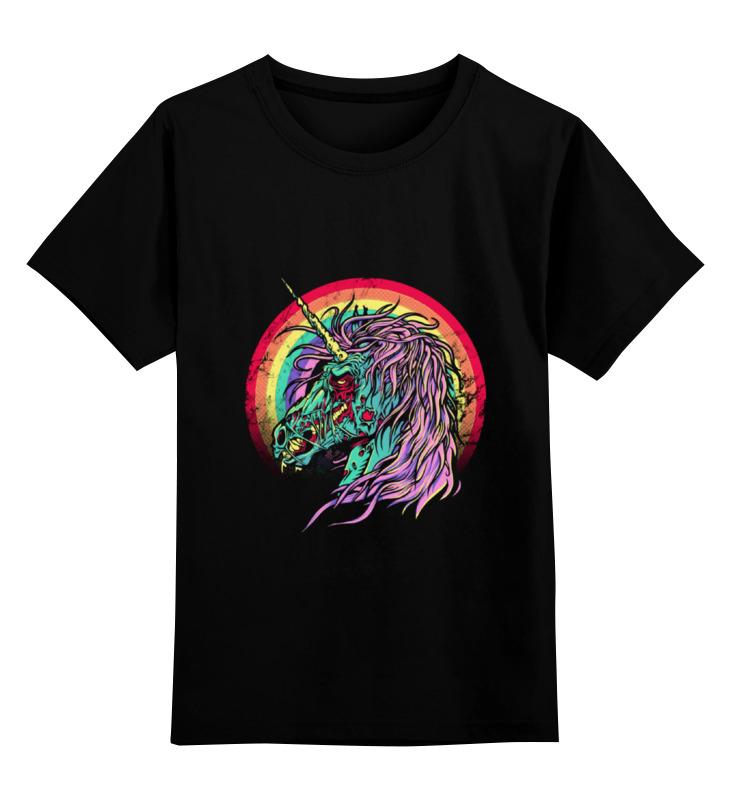 Детская футболка классическая унисекс Printio Зомби единорог