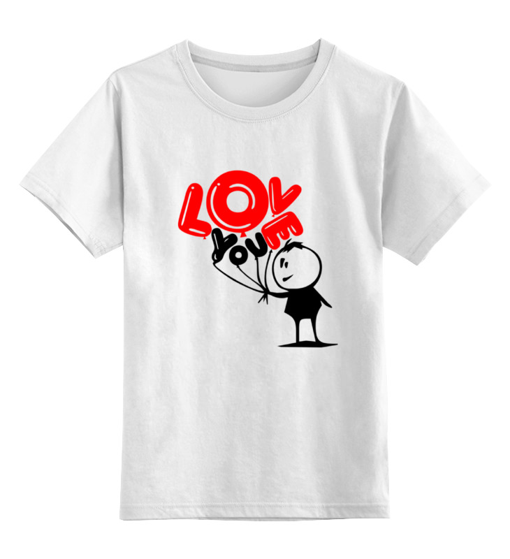 Детская футболка классическая унисекс Printio I love you футболка классическая printio i want you raiden