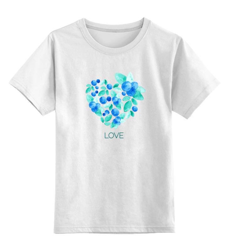 Детская футболка классическая унисекс Printio Акварель сердце из голубики лонгслив printio акварель сердце из голубики