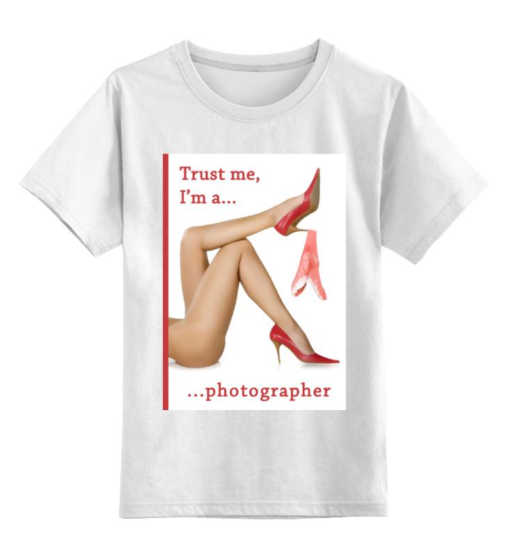 Детская футболка классическая унисекс Printio Trust me, i'm a photographer trust toilette пиджак