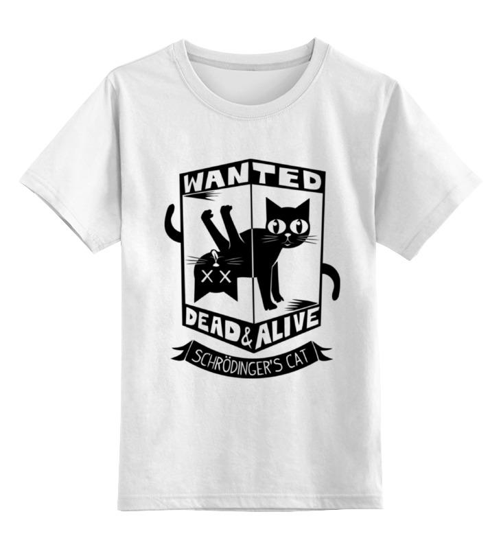 Детская футболка классическая унисекс Printio Кот шрёдингера (dead alive) толстовка wearcraft premium унисекс printio кот шрёдингера dead alive