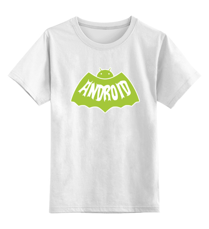 Детская футболка классическая унисекс Printio Андроид (бэтмен)