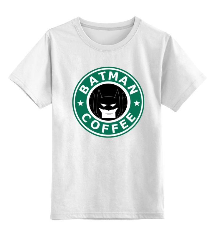 Детская футболка классическая унисекс Printio Batman coffee детская футболка классическая унисекс printio мачете