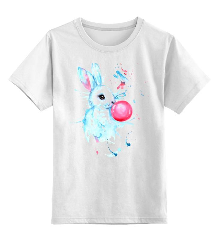 Детская футболка классическая унисекс Printio Заяц с жвачкой футболка заправленная в юбку