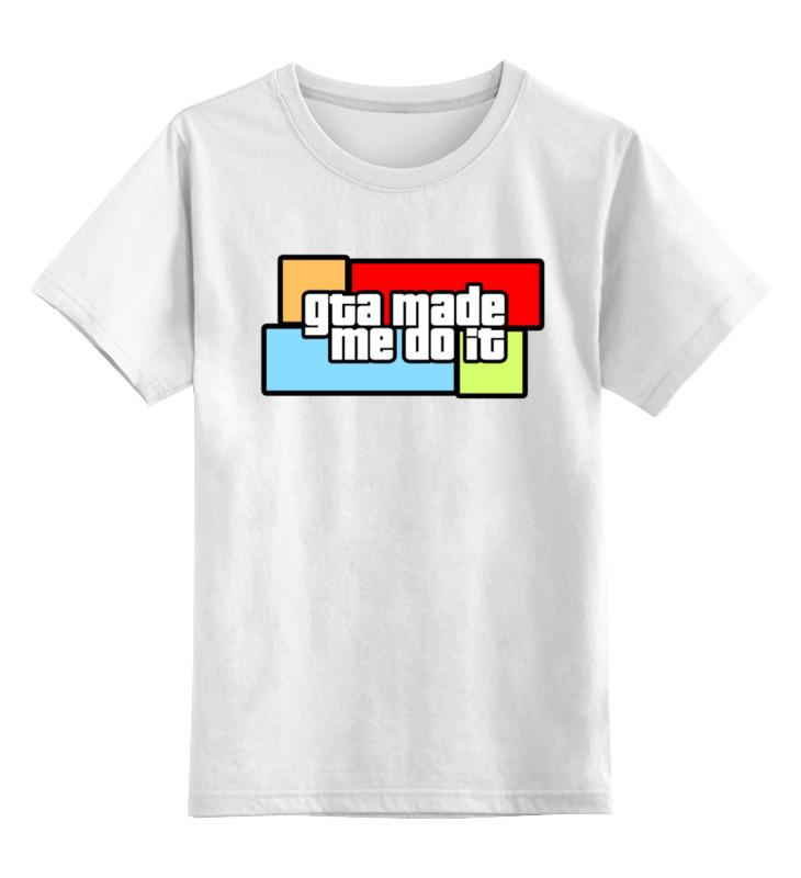 Фото - Детская футболка классическая унисекс Printio Gta made me do it детская футболка классическая унисекс printio do nut eat me не ешь меня