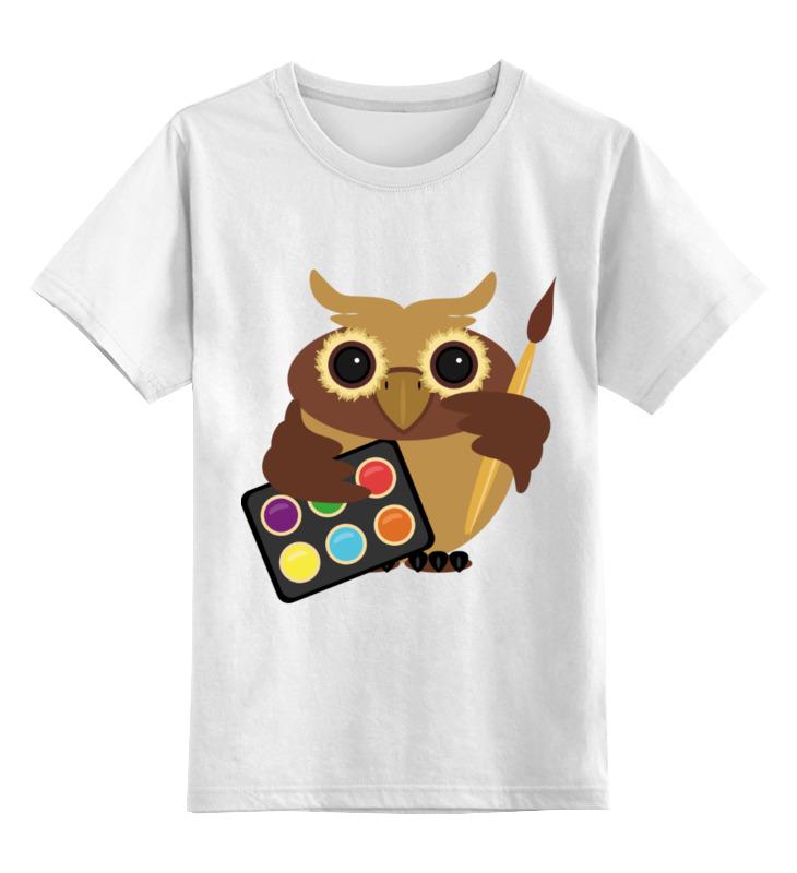 Детская футболка классическая унисекс Printio Сова-художник детская футболка классическая унисекс printio художник