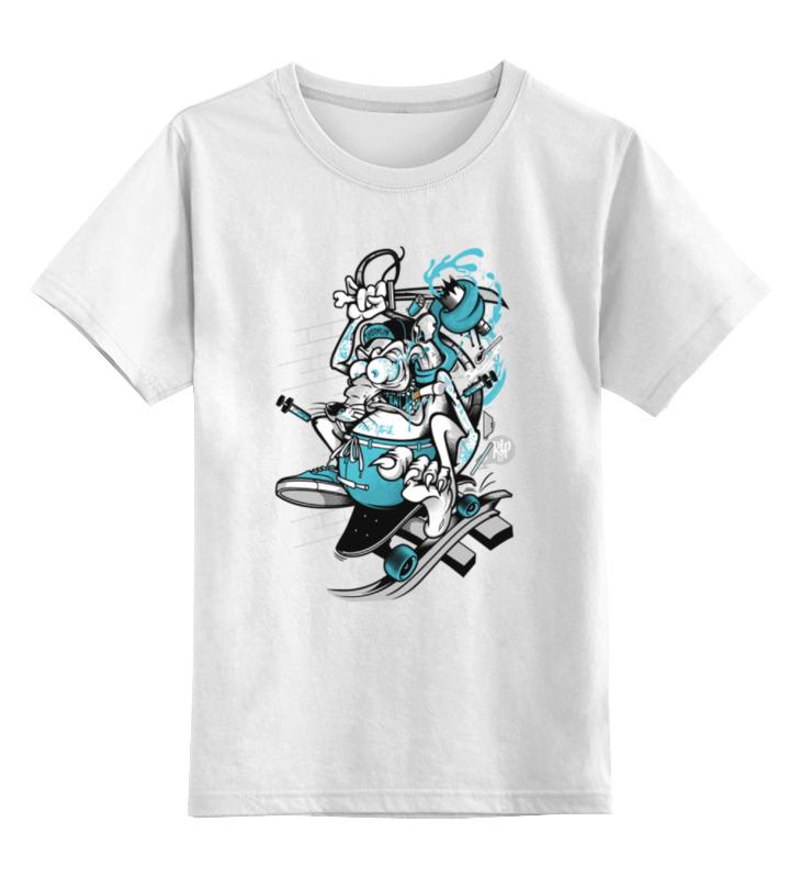 Детская футболка классическая унисекс Printio Мышь на скейте детская футболка классическая унисекс printio дракула на скейте