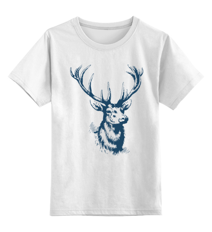 Детская футболка классическая унисекс Printio Олень