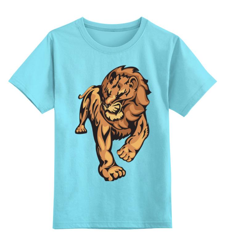 Детская футболка классическая унисекс Printio The lion king lion varnish relief pu phone case for ipod touch5 6