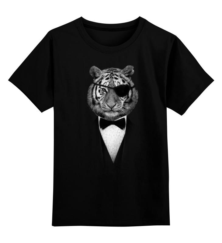 Детская футболка классическая унисекс Printio Одноглазый тигр