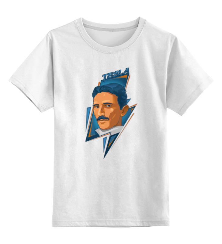 Детская футболка классическая унисекс Printio Tesla-3