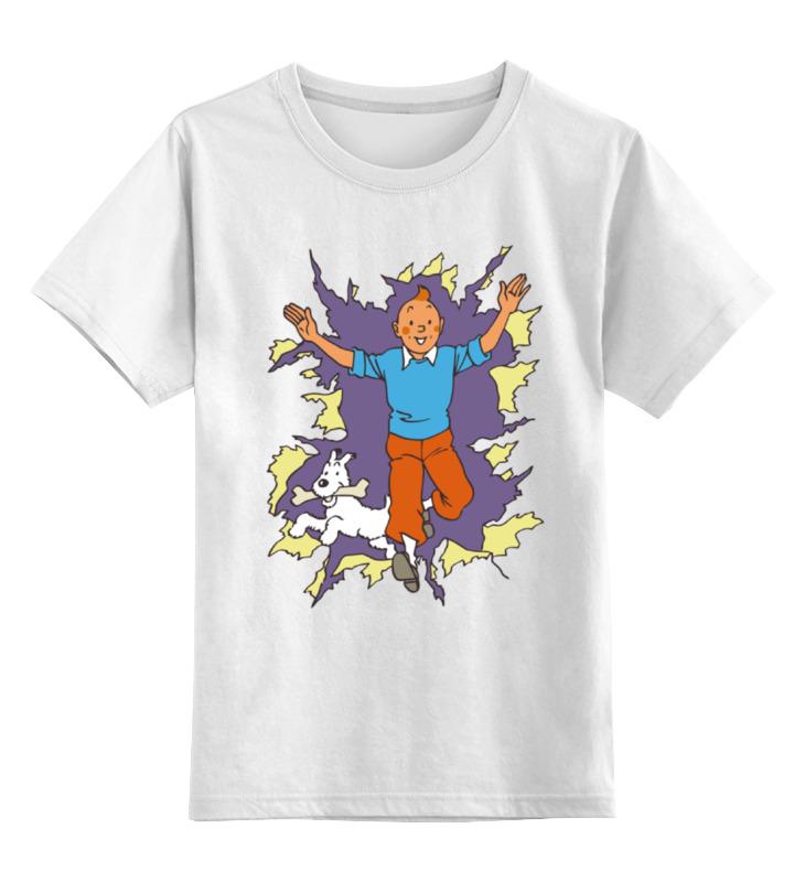 Детская футболка классическая унисекс Printio Приключения тинтина футболка tintin heart