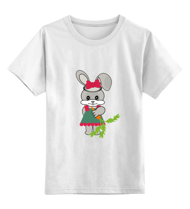 Детская футболка классическая унисекс Printio Зайка с морковкой слюнявчик printio кролик с морковкой