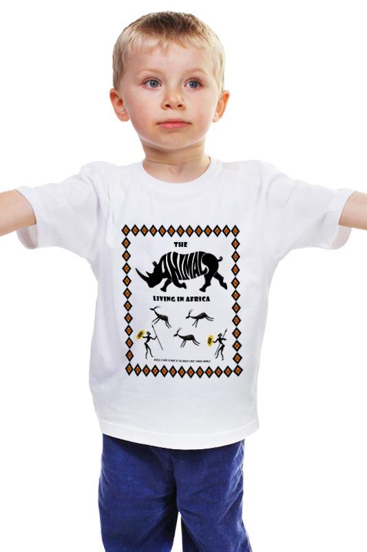 Детская футболка классическая унисекс Printio The animals living in africa футболка классическая printio the animals living in africa