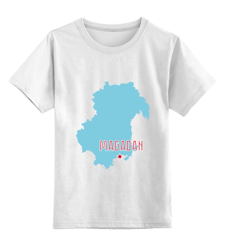 Детская футболка классическая унисекс Printio Магаданская область. магадан