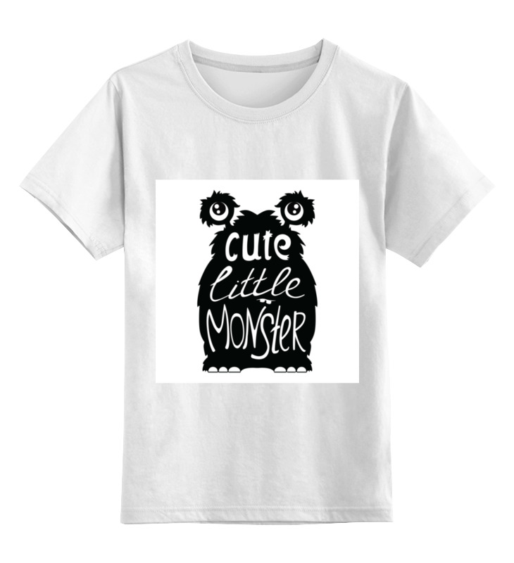 Детская футболка классическая унисекс Printio Милый маленький монстр цена и фото