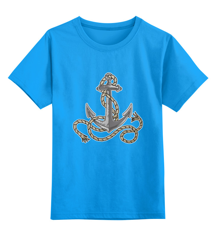 Детская футболка классическая унисекс Printio Якорь