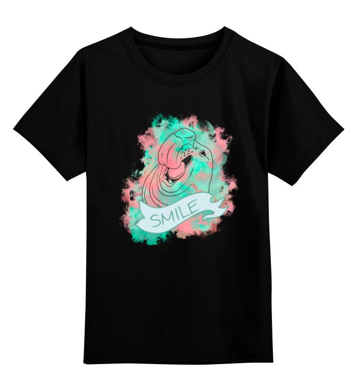 Детская футболка классическая унисекс Printio Smile цена и фото
