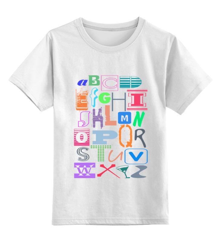 Детская футболка классическая унисекс Printio Alphabet цена и фото