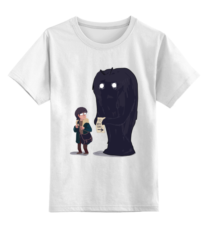 Детская футболка классическая унисекс Printio To new york