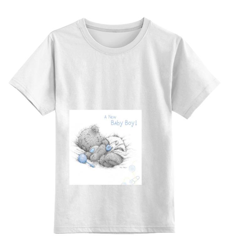 Детская футболка классическая унисекс Printio Малютка тедди