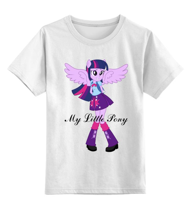 Детская футболка классическая унисекс Printio Искорка (девочки эквестрии) футболка с полной запечаткой для девочек printio искорка девочки эквестрии