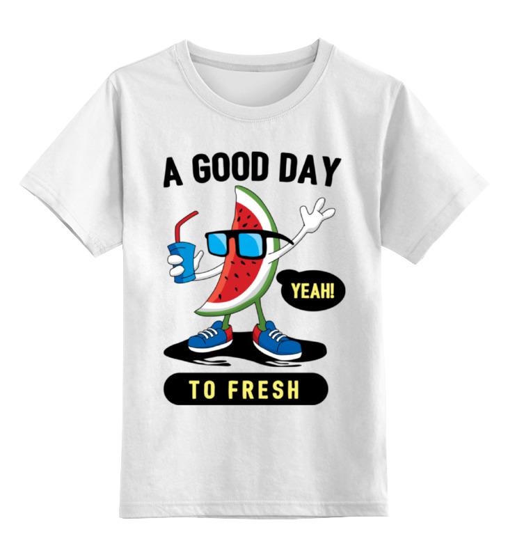 Детская футболка классическая унисекс Printio Арбуз в очках анастасия колпакова арбуз дыня алыча и другие южные культуры выращиваем в средней полосе
