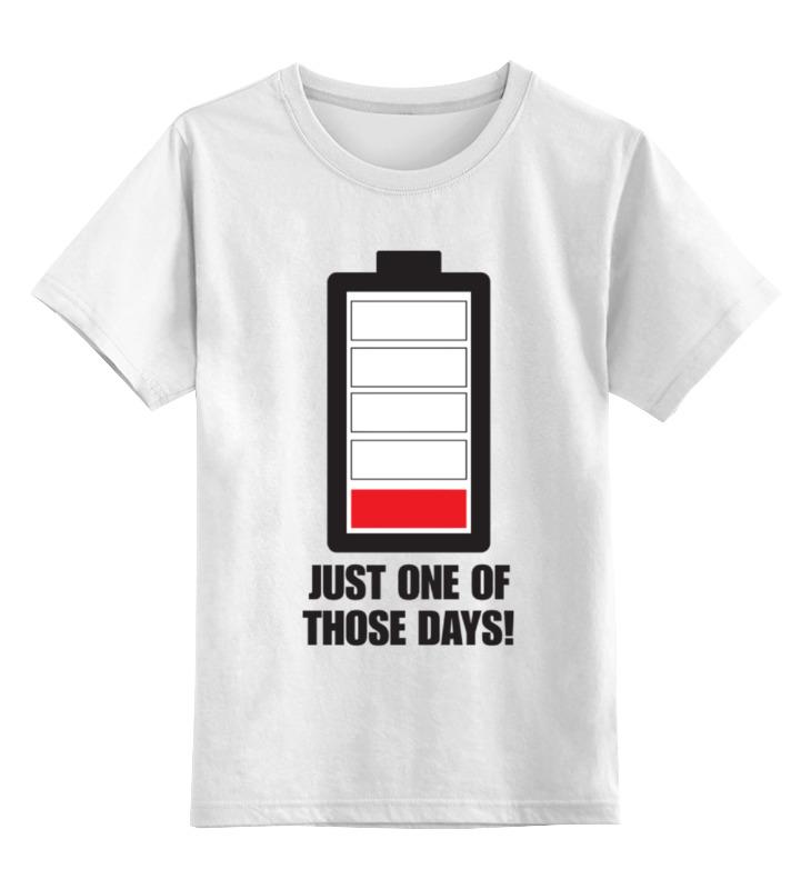 Детская футболка классическая унисекс Printio Села батарейка (устал) старая карта села работки