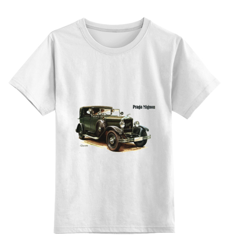 Детская футболка классическая унисекс Printio Ретроавтомобили цена и фото