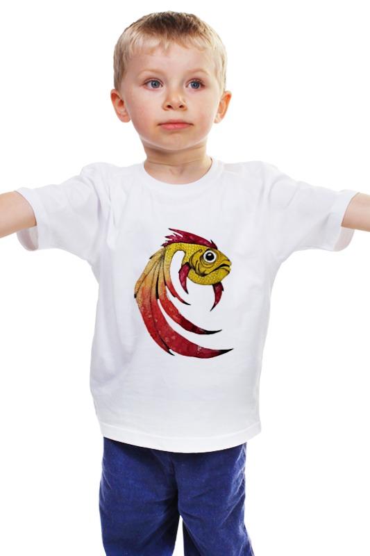 Детская футболка классическая унисекс Printio Золотая рыбка детская футболка классическая унисекс printio рыбка 3