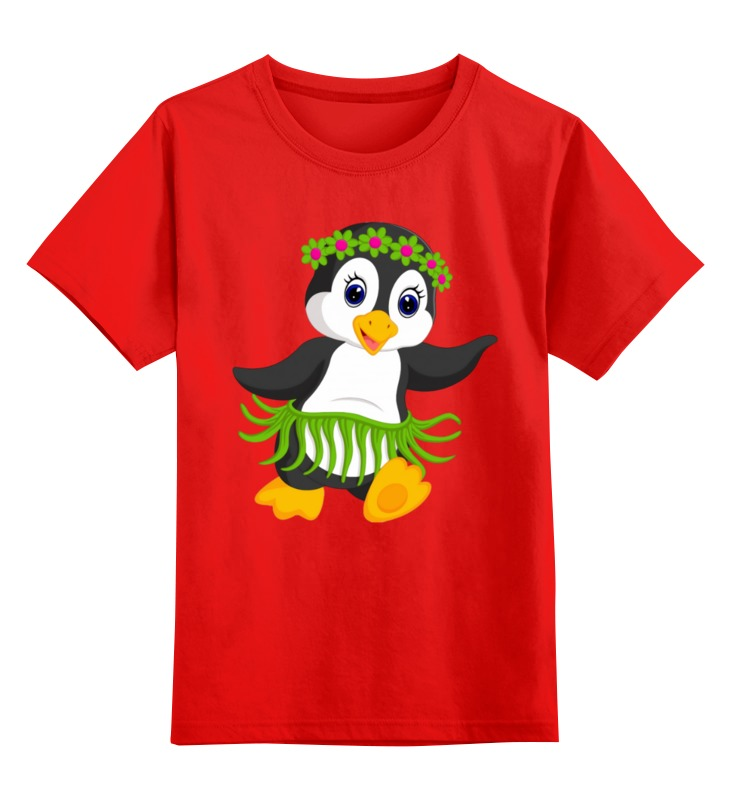 Детская футболка классическая унисекс Printio Пингвинчик цена