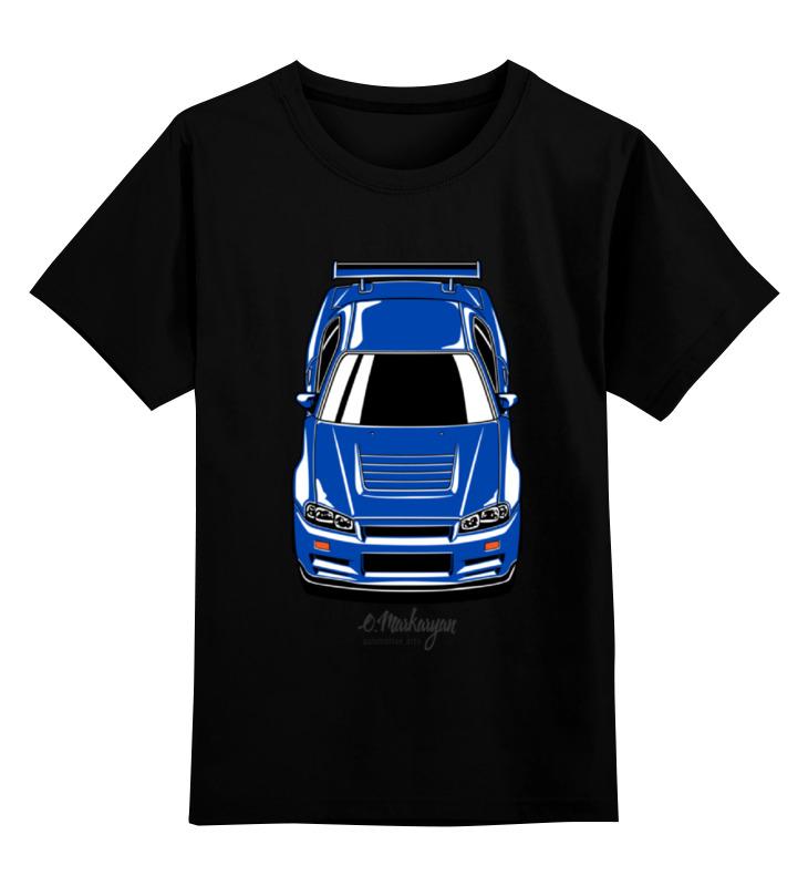 Детская футболка классическая унисекс Printio Skyline r34 футболка рингер printio nissan skyline r34
