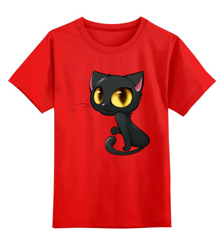 Детская футболка классическая унисекс Printio Котенок smoby детская горка king size цвет красный