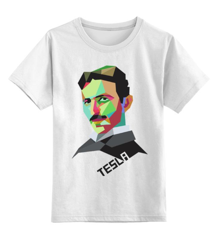 Детская футболка классическая унисекс Printio Серия тесла цена и фото