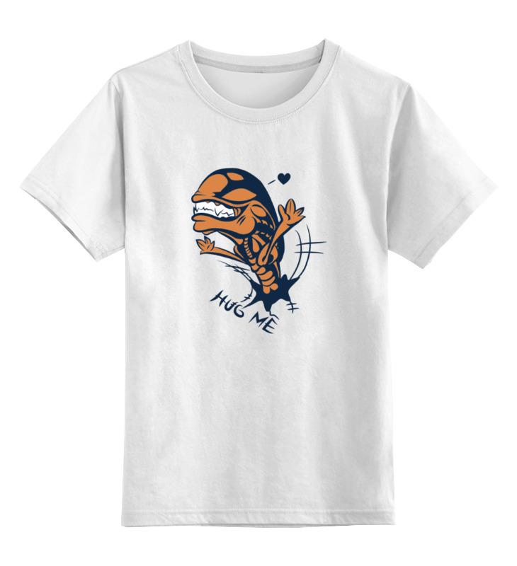 Детская футболка классическая унисекс Printio Alien hugs цена и фото
