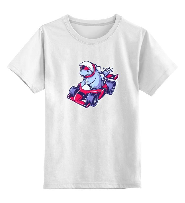 Детская футболка классическая унисекс Printio Динозавр на картинге стоимость