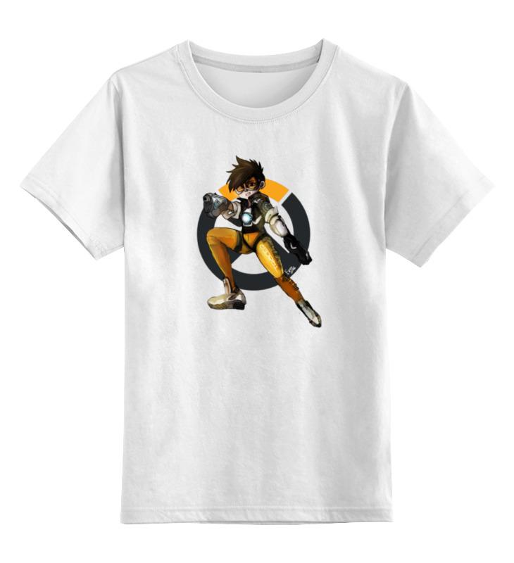 Детская футболка классическая унисекс Printio Overwatch tracer