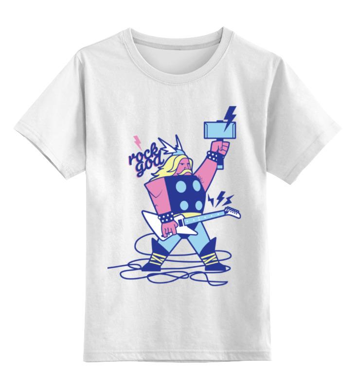 Детская футболка классическая унисекс Printio Бог рока (rock god) детская футболка классическая унисекс printio rock