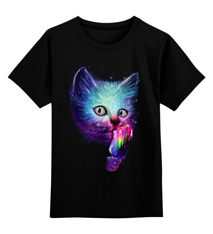 Детская футболка классическая унисекс Printio Swag cat