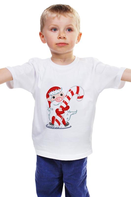 Детская футболка классическая унисекс Printio Дед мороз с леденцом открытка с леденцом дорожные истории 1252343