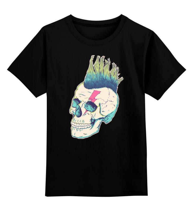Детская футболка классическая унисекс Printio Череп панка детская футболка классическая унисекс printio череп панка
