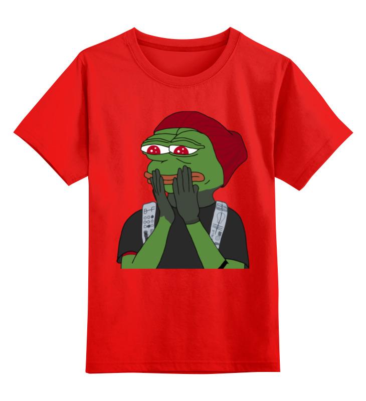 Детская футболка классическая унисекс Printio Лягушонок пепе