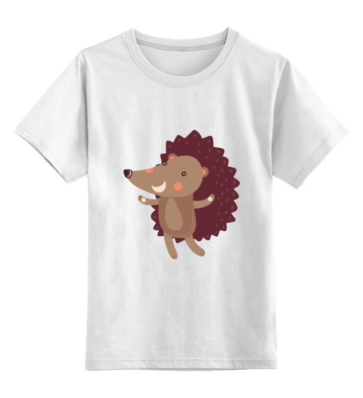 Детская футболка классическая унисекс Printio Весёлый ёжик цена и фото