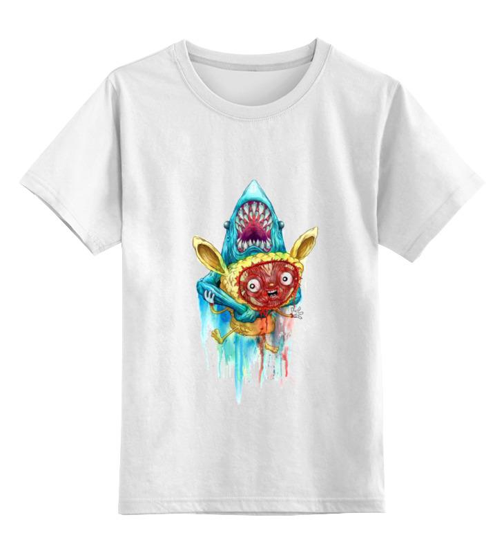 Детская футболка классическая унисекс Printio Акула серова м клад белой акулы
