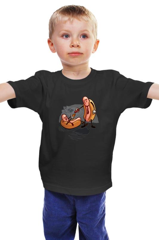 Детская футболка классическая унисекс Printio Хот доги бандиты раззаков фёдор ибатович бандиты эпохи ельцина или россия кровью умытая