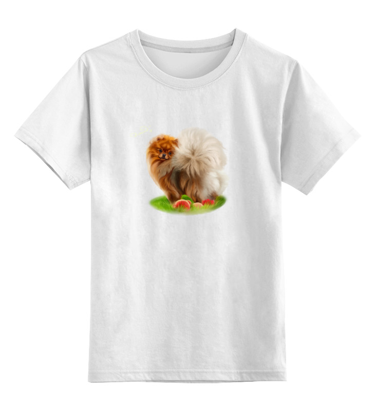 Детская футболка классическая унисекс Printio Померанский шпиц