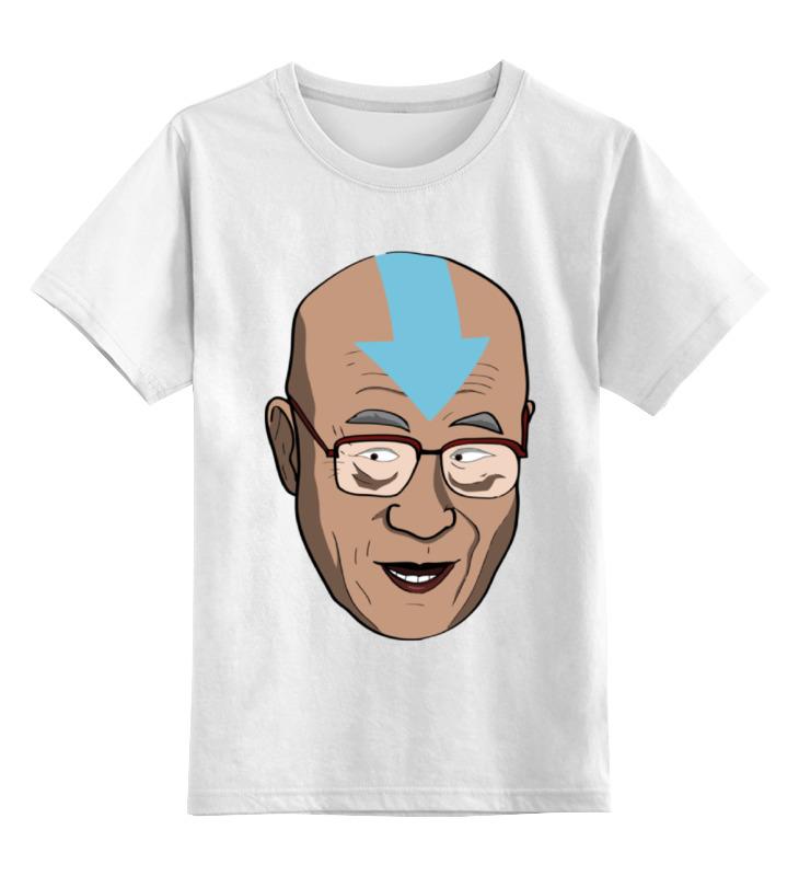 Детская футболка классическая унисекс Printio Далай лама (аватар) футболка с полной запечаткой для девочек printio далай лама