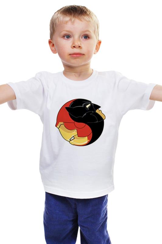 Детская футболка классическая унисекс Printio Batman x iron man лонгслив printio ice king x batman