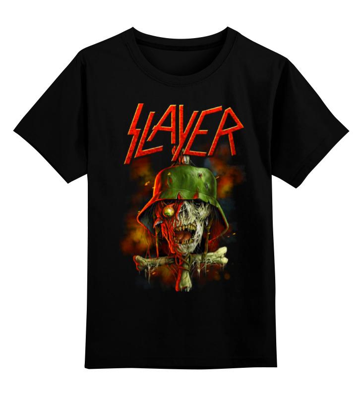 Детская футболка классическая унисекс Printio Slayer band майка классическая printio slayer season in the abyss 1990